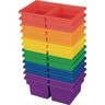Small Two-Compartment All-Purpose Bin - 6 Colors - Set of 12