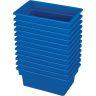 Small All-Purpose Bin, Set of 12 - Blue