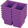 Small Two-Compartment All-Purpose Bin - Purple - Set of 12