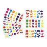 Colorations Familiar Stickers, 12 Sheet EA, SET OF 12