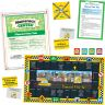 Elapsed Time Taxi Numeracy Center with Storage Bag - Grab and Go Learning Pack - Children Master Elapsed-Time Questions - Grades 3-5