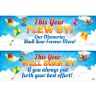 Ready To Decorate This Year Flew By Bulletin Board Kit - 1 banner, 24 posters