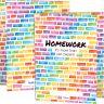 Rainbow Building Blocks 3-Pocket Homework Folders  Set Of 12