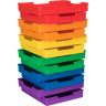 Plastic Trays - Set Of 12 - 6-Color Grouping