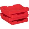 Plastic Trays - Set Of 12 - Primary Colors