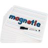 """12"""" X 9"""" Two-Sided Magnetic Primary-Lined Dry Erase Boards - Set Of 12"""