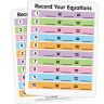Math Facts Dry Erase Boards  Multiplication And Division  Set Of 6