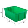 Classroom Stacking Bins - Rain Forest - Set Of 4