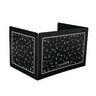 Deluxe Plastic Privacy Shield - Large Black Single - 1 privacy shield