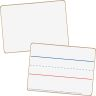"""Mini Non-Magnetic 9""""x 6"""" 2-Sided Blank And Lined Dry Erase Boards - 24-Student Pack"""