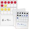 Magnetic Double Ten-Frame Dry Erase Demonstration Board Kit - Deluxe - 7 dry erase boards, 50 magnets