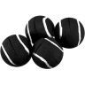 Quiet Chair Stay-Put Foot Covers - Set Of 24 - Black