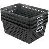 Book Baskets, Large Rectangle - Black - 4 baskets