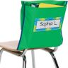 Store More® Deep-Pocket Chair Pockets - 6 Pack - Green/ Blue