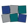 Tone on Tone Seating Squares, Set of 6 - Cool Colors